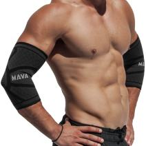 Mava Sports Elbow Brace Compression Sleeve (Pair) - Elbow Brace for Tendonitis, Tennis, Workouts, Weightlifting, Golfer's Elbow Treatment, Basketball- Reduce Joint Pain & Elbow Support - Elbow Sleeve
