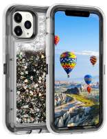 Coolden Case for iPhone 11 Pro MAX Cases Protective Glitter Case for Women Girls Cute Bling Sparkle Heavy Duty Hard Shell Shockproof TPU Case for 2019 Release 6.5 Inches iPhone 11 Pro MAX, Black