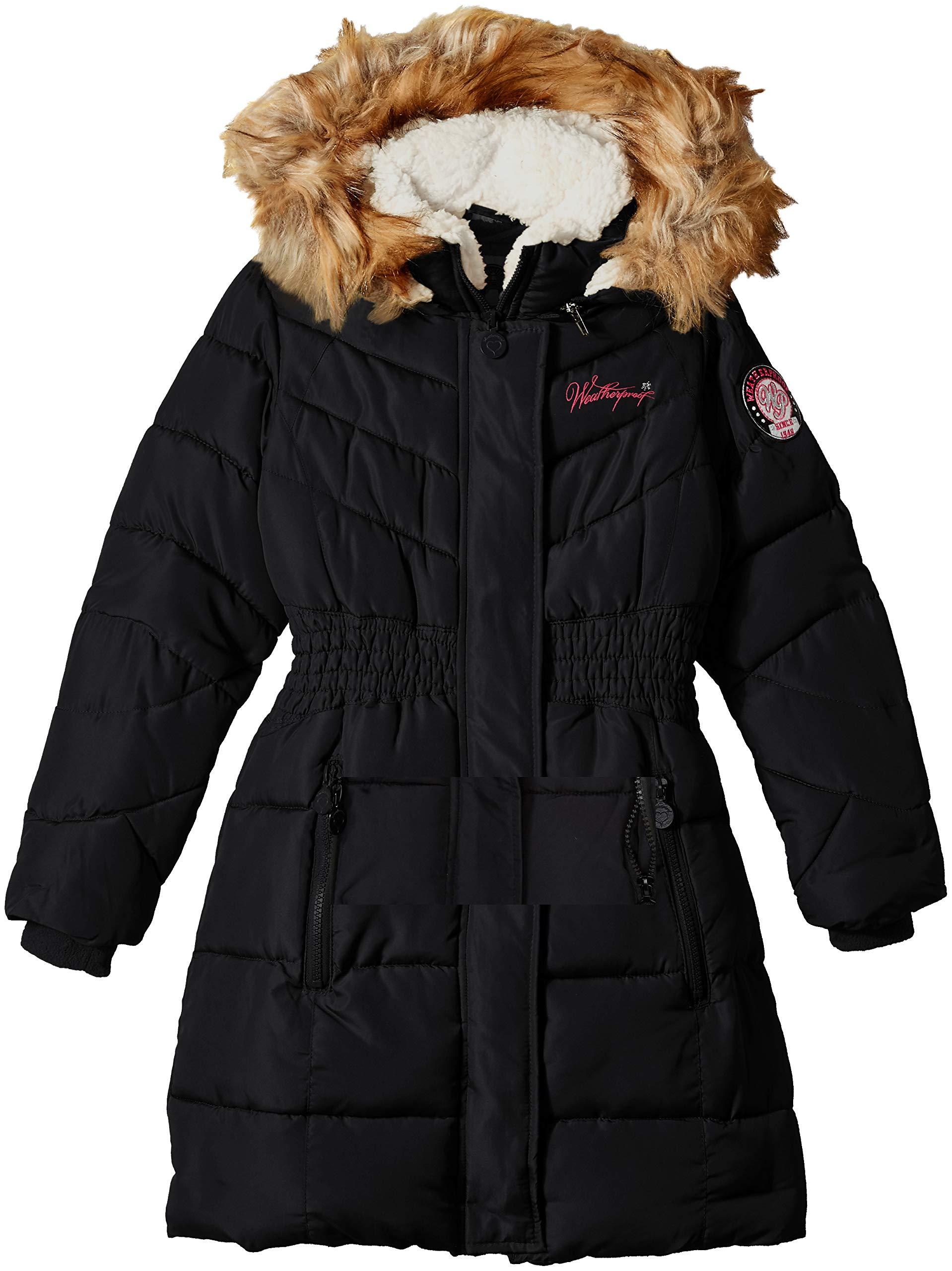 Weatherproof Girls' Hooded Bubble Jacket
