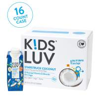 KidsLuv Vitamin Infused Flavored Kids Water, Zero Sugar, Certified Non-GMO, Vegan and Kosher, 8 ounce Tetra Pak Drink Boxes, Starstruck Coconut, Pack of 16