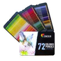 72 Colored Pencils Set, Numbered, with Metal Box - 72 Coloring Pencils for Adult Coloring Books
