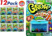 JA-RU Magic Grow Fish Aquarium (Pack of 12) Grow in Water Magic Toy Plus 1 Bouncy Ball Bundle Sea Creatures | Item #306-12p