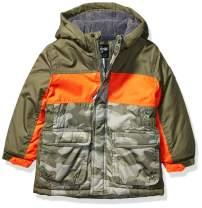 Osh Kosh Boys' Little Heavyweight Colorblock Puffer Coat