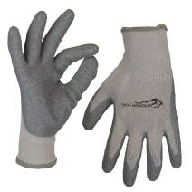 SAFE HANDLER Ultra Stretch Grip Gloves | Latex Crinkle Coated Grip, Thick Lining, Comfort & Flexibility, Grey, OSFM