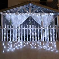 Wedding Lights, 300 Led Window Curtain String Light Decorations for Bedroom, Wedding Backdrop or Party Decor, White