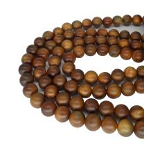 CarpenterC 200pcs 6mm Gorgeous Natural Round Polished Rosewood Loose Beads For Jewelry Making DIY Handmade Craft
