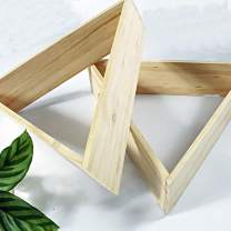 Outlavish Triangle Floating Honeycomb Shelves Pine Sets of 2 (Triangle, Natural)