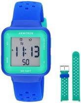 Armitron Sport Unisex Digital Chronograph Interchangeable Silicone Strap Watch, 45/7123