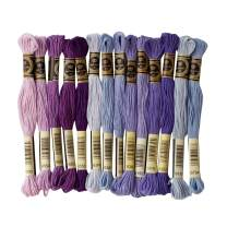 Embroidery Floss 14 Skeins Per Pack,Premium Rainbow Color Embroidery Threads Cross Stitch Threads Friendship Bracelets Floss,Crafts Floss Needles,Floss Bobbins