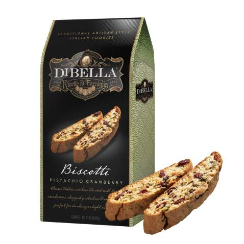Dibella Biscotti Cookies – Authentic Italian Biscotti, Pistachio Cranberry, 6-Count – Gourmet Cantuccini Biscotti – Rich Flavor – Crunchy Outside with Silky Middle – Classic Italian Biscotti
