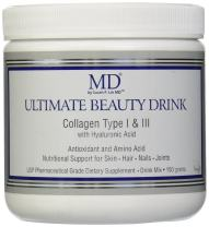 MD Ultimate Beauty Drink Powder CollagenType I & III | Collagen Dietary Supplement with Antioxidants | Provides Nutritional Support to Skin, Hair, Nails, Joints | 150 Grams