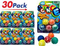 JA-RU Bouncy Balls Superballs Super Hi Bounce (6 Pack of 30 Balls) Small Toys Party Favors for Kids Racketball Kids Prize Premium Gift Toy Includes 1 Collectable Ball I Item #973-6p