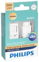 Philips 3157ALED Ultinon LED Bulb (Amber), 2 Pack