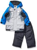 LONDON FOG Baby Boys' 2-Piece Snow Pant & Jacket Snowsuit