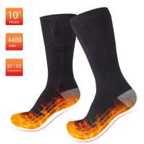 REENUO Heated Socks, Rechargeable Battery Operated Heating Socks for Men Women (Black)