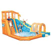 Bestway Hurricane Tunnel Blast Inflatable Water Park Play Center   Includes Big Water Slide, Water Blob, Climbing Wall, and Pool Area   Outdoor Summer Fun for Kids & Families