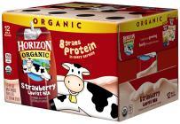 Horizon Organic Low Fat Organic Milk Box, Strawberry, 8 Ounce (Pack of 12)