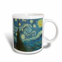 3dRose 128155_1 The Starry Night By Vincent Van Gogh Mug, 11 oz, Ceramic