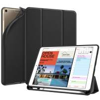 """Fintie SlimShell Case for iPad Air 3rd Gen 10.5"""" 2019 / iPad Pro 10.5 Inch 2017 with Built-in Pencil Holder - Lightweight Smart Stand Soft TPU Back Cover, Auto Wake/Sleep (Black)"""