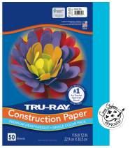 "Tru-Ray Heavyweight Construction Paper, Atomic Blue, 9"" x 12"", 50 Sheets"