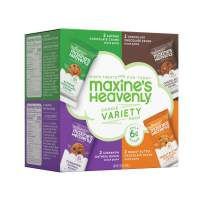 Maxine's Heavenly Cookies, 4 Flavor Variety Pack (8 Pack), Gluten Free, Low Sugar, Vegan, Homemade Style Chocolate Chip, Peanut Butter, Almond Chocolate, Oatmeal Raisin