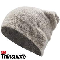FWPP Thinsulate Thermal Lining Hat -5℉ Keep Warm Wool and Acrylic Knit Cap Beanie