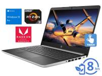 "HP 14 Laptop, 14"" HD Touch Display, AMD Ryzen 3 3200U Upto 3.5GHz, 32GB RAM, 256GB SSD, Vega 3, HDMI, Card Reader, Wi-Fi, Bluetooth, Windows 10 Pro"