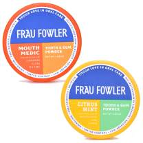 Frau Fowler Natural Oral Care- MOUTH MEDIC & CITRUS MINT Tooth Powder, 2 Pack, Botanically Clean, Teeth-Whitening, Remineralizing, Fluoride Free, SLS Free -Restores Enamel and Freshens Breath, 4 oz