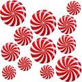 12 Pcs Peppermint Floor Decals Stickers Christmas Swirl Xmas Candy Land Theme Party Decoration Supply
