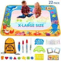VISSETO X-Large Aqua Magic Mat 40x28'' | Kids Educational Toys Aqua Mat | Kids Painting Reusable Water Drawing Doodle Mat | Aquadoodle Mat Gift for Girls, Boys