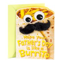 Hallmark Funny Father's Day Card (Burrito with Googly Eyes and Moustache)