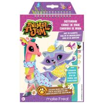 Make It Real - Animal Jam Sketchbook with Exclusive Masterpiece Token. Animal Jam Coloring Book for Kids. Includes Sketch Pages, Stencils, Stickers, Interview with Illustrator, and Online Game Token