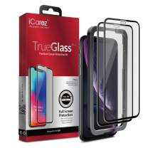 iCarez [Full Coverage Tempered Glass + Tray Installation] Screen Protector for iPhone 11 iPhone XR 6.1-Inch (Case Friendly) Easy to Apply [ 2-Pack 0.33MM 9H 2.5D]
