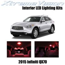 XtremeVision Interior LED for Infiniti QX70 2015+ (12 Pieces) Red Interior LED Kit + Installation Tool