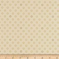 Andover Spots and Dots Sugar Cookie, Fabric by the Yard