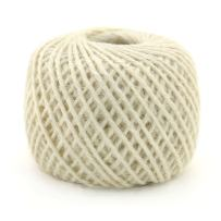 BambooMN 75 Yard, 2mm Crafty Jute Twine Thread Cord String Jute for Artworks, DIY Crafts, Gift Wrapping, Picture Display and Gardening, 3 Balls White