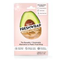 "THE FRESHGLOW CO FRESHWRAP Natural Beeswax Food Wrap, 2-10""x10"" Reusable Eco-Friendly Wraps, Keeps Food Fresh"