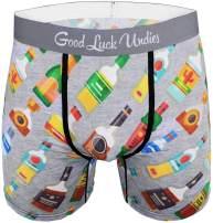 Good Luck Undies Men's Liquor Bottles Boxer Brief Underwear