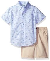 Little Me Boys' Woven Short Set