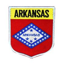 State Flag Shield Arkansas Patch Badge Travel USA Embroidered Sew On Applique