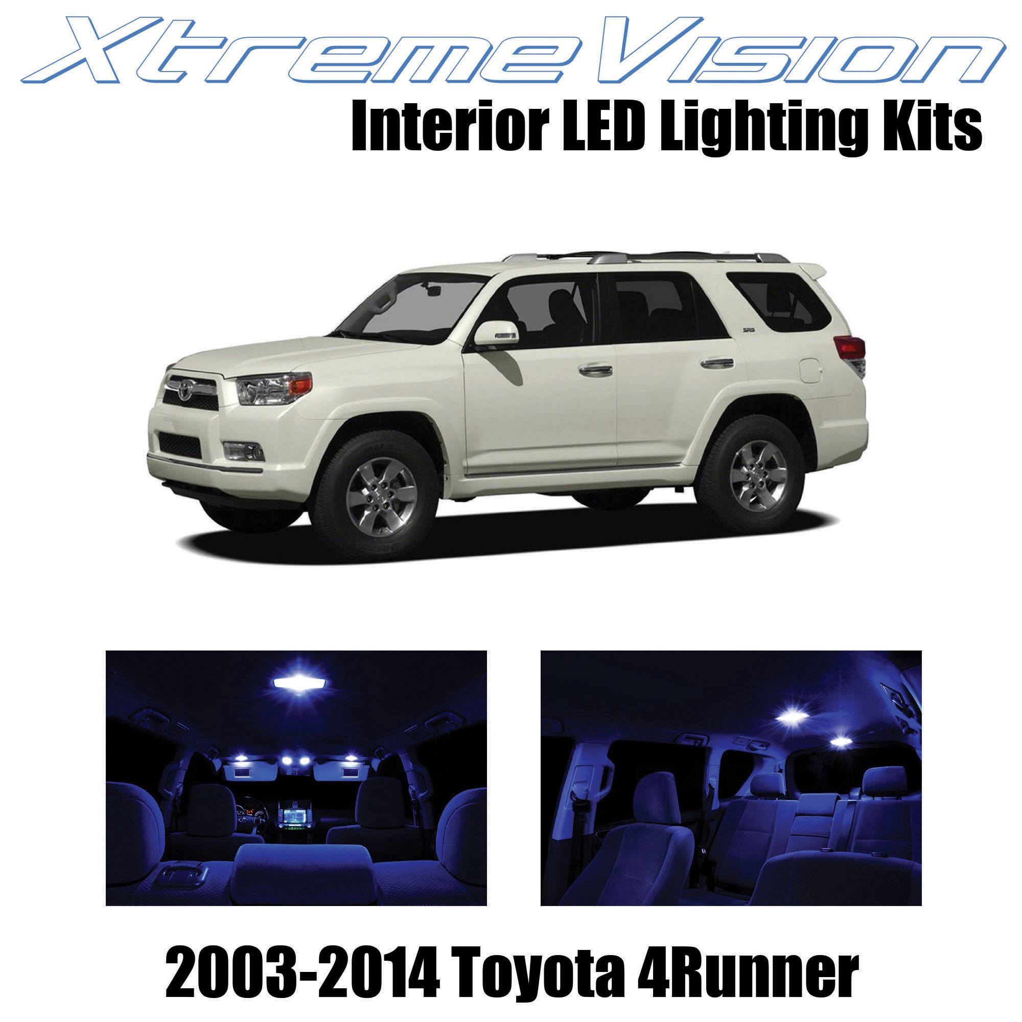 XtremeVision Interior LED for Toyota 4Runner 2003-2014 (12 Pieces) Blue Interior LED Kit + Installation Tool