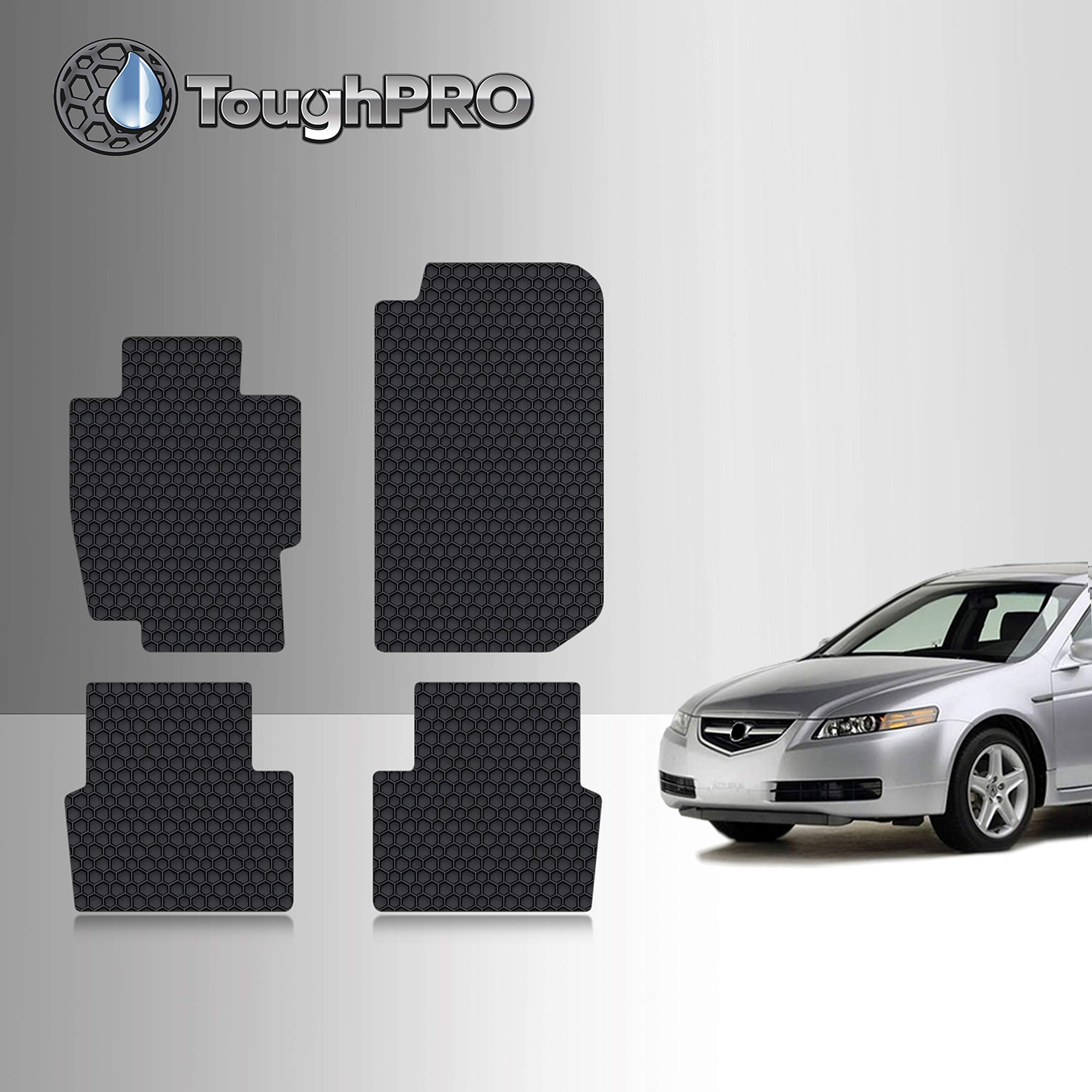Toughpro Floor Mat Accessories Set Compatible With Acura Tl All Weather Heavy Duty Made In Usa Black Rubber 2004 2005 2006 2007 2008 Front Row 2nd Row