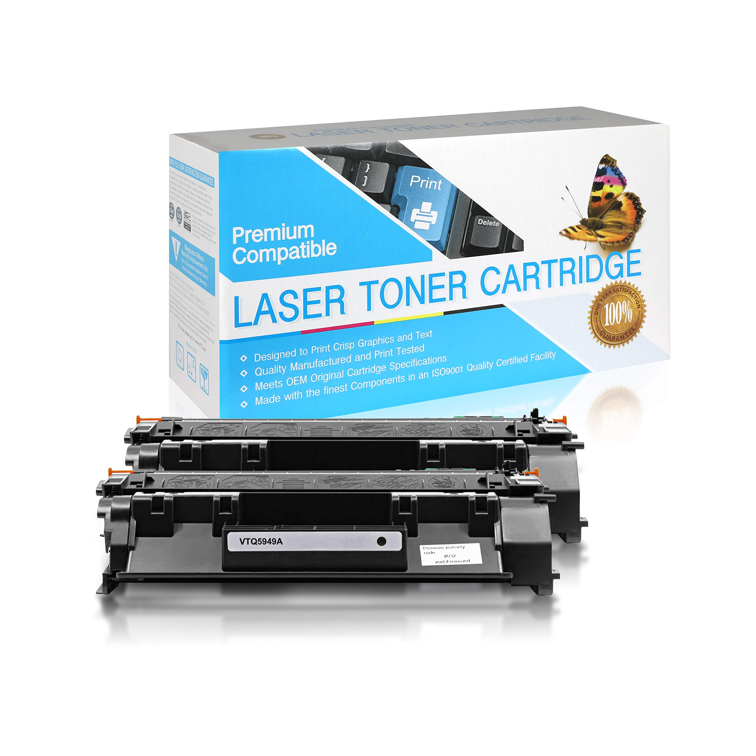 SuppliesOutlet remanufactured Toner Cartridge Replacement for HP 49A / Q5949A (Black,2 Pack)