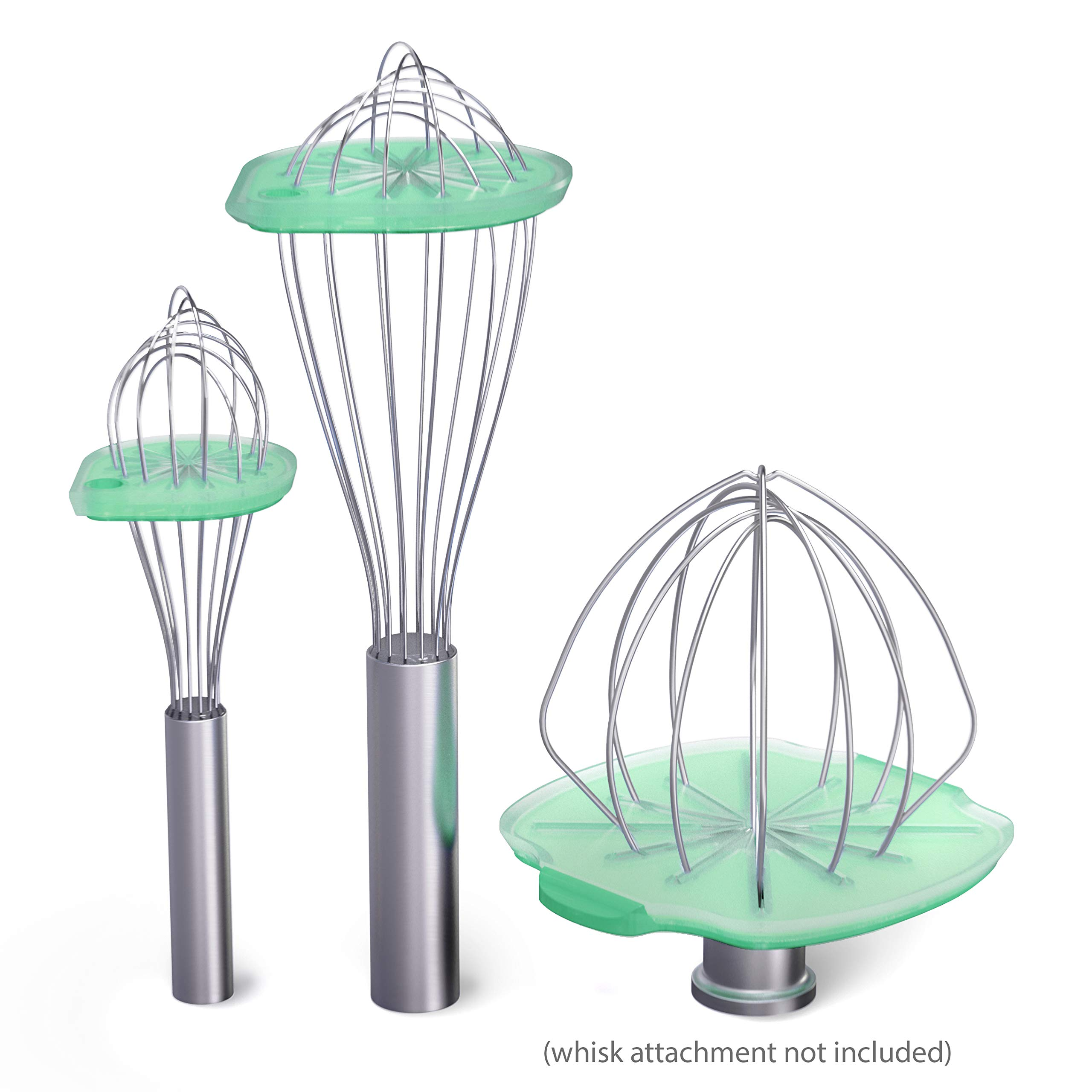 Whisk Wiper 5pc Bundle+ - Mix Without The Mess - Kitchen Accessory & Gift - Incl. Whisk Wiper PRO for Tilt-Head Stand Mixer (4.5 & 5qt), Whisk Wiper + Whisk Wiper mini sets (Color: Aquamarine)