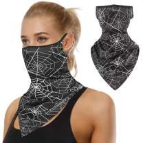 Face Bandana Mask,DD DEMOISELLE Ear Loops Face Balaclava Scarf Neck Gaiters Men