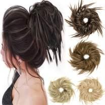2PCS Tousled Updo Messy Bun Hair Piece Hair Bun Extensions Bun Scrunchie Scrunchy Updo Hairpiece
