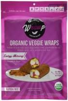 Wrawp Organic Veggie Flatbread, Energizing Morning, 5.9 Ounce