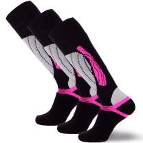Pure Athlete Elite Wool Race Ski Socks - Warm Comfortable Snowboard/Skiing Socks
