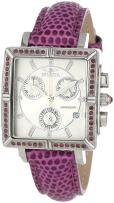 Invicta 10335 Women's Wildflower Classique Quartz Crystal Accented Purple Watch w/ 7-Piece Leather Strap Set