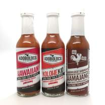 Adoboloco Hot Sauce Power Pack - Spicy Hamajang, Kolohekid, Hawaiian Chili Pepper Water (3-Pack) Delicious Fiery Chili Pepper Sauce Bundle